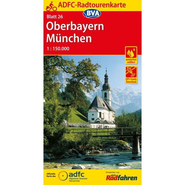 ADFC-Radtourenkarte 26 Oberbayern