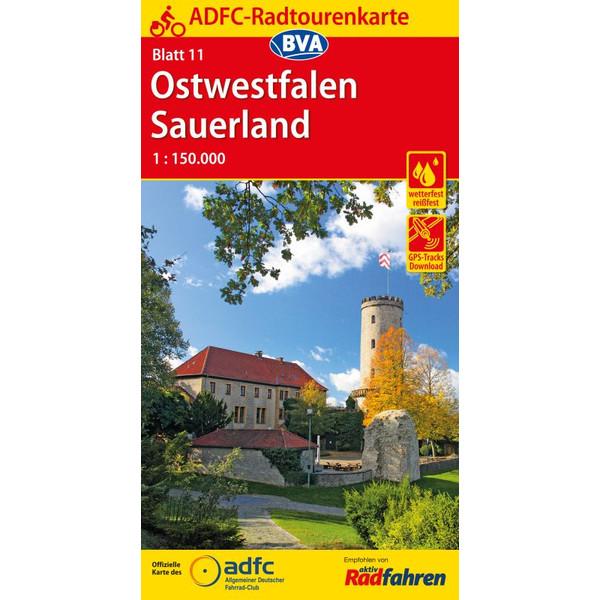 ADFC-Radtourenkarte 11 Ostwestfalen