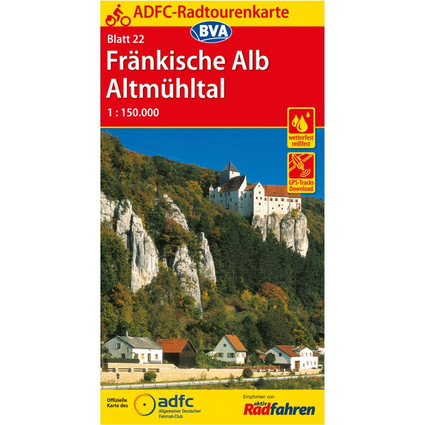 ADFC-Radtourenkarte 22 Fränkische Alb