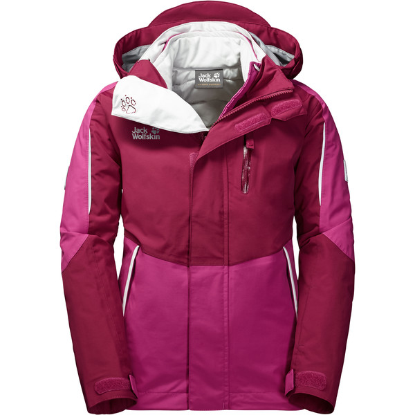 Jack Wolfskin Crosswind 3In1 Jacket Kinder - Winterjacke