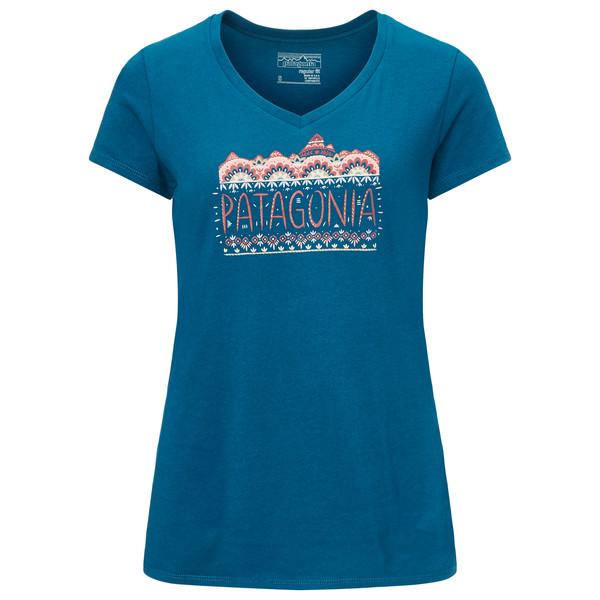 Femme Fitz Roy Cotton V-Neck T-Shirt