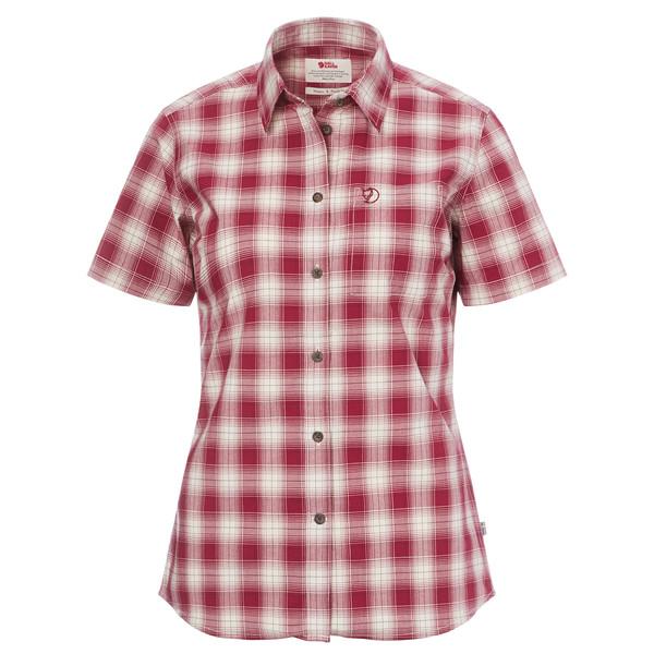 Fjällräven Övik Check Shirt SS Frauen - Outdoor Bluse