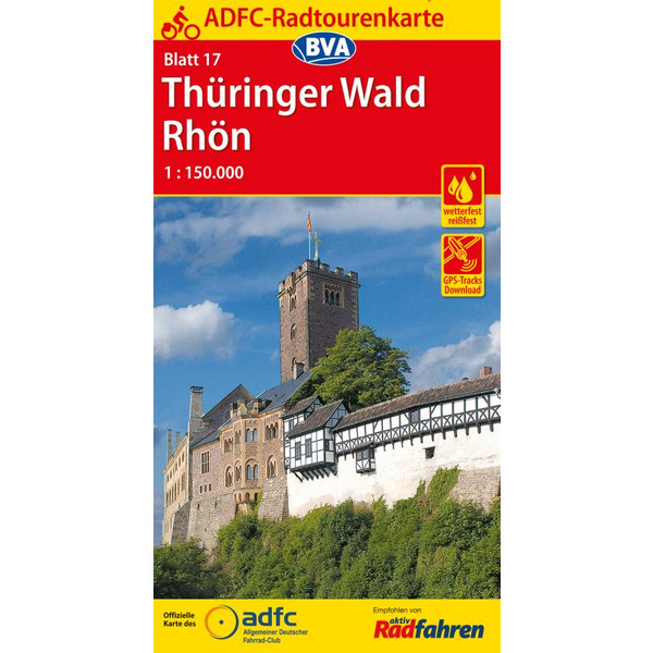 ADFC 17 Thüringer Wald / Rhön 1:150.000