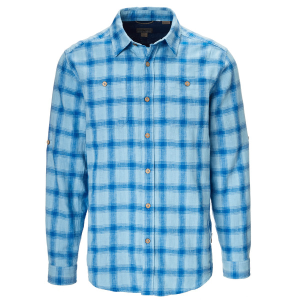 Royal Robbins COOL MESH LINEN PLAID L/S Männer - Outdoor Hemd