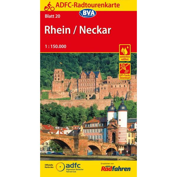 ADFC-Radtourenkarte 20 Rhein / Neckar