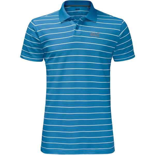 Jack Wolfskin Pique Striped Polo Männer - T-Shirt
