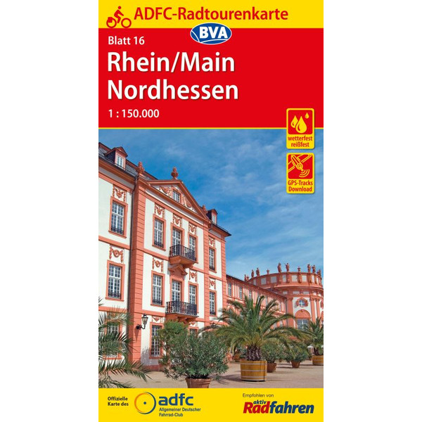 ADFC-Radtourenkarte 16 Rhein/Main Nordhe