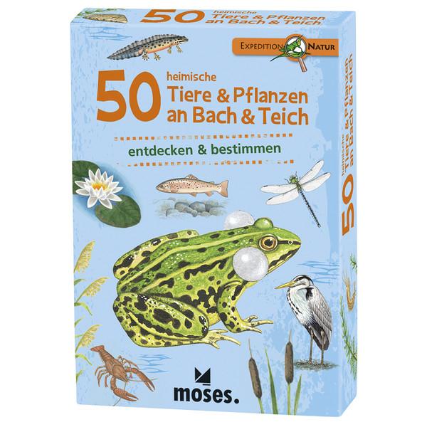 Moses Verlag EXPEDITION NATUR 50 HEIMISCHE TIERE &  PFLANZEN AN BACH &  TEI Kinder