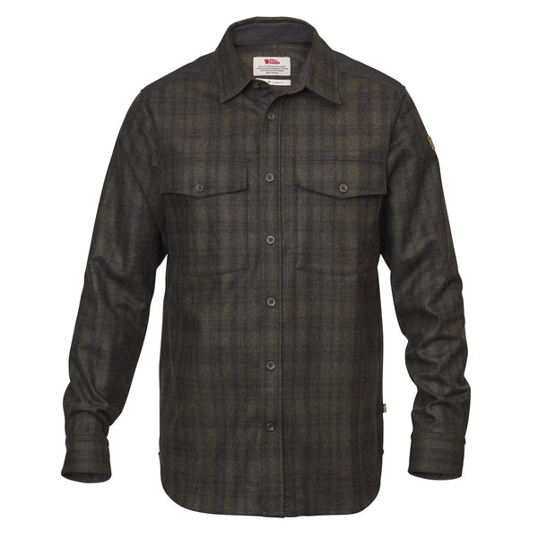 Fjällräven Övik Re-Wool Shirt LS Männer - Outdoor Hemd