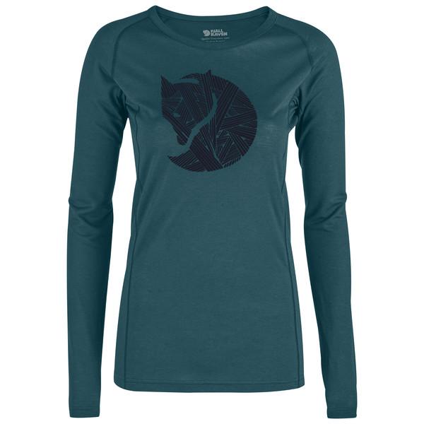 Fjällräven Abisko Trail T-Shirt Printed LS W Frauen - Funktionsshirt