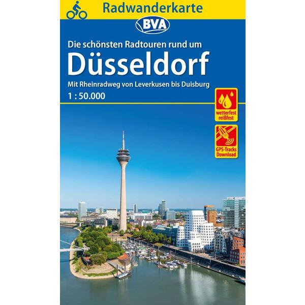 Radwanderkarte BVA Rund um Düsseldorf