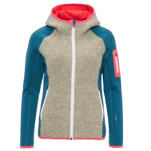 Ortovox Fleece Plus Classic Knit Hoody Frauen - Wolljacke