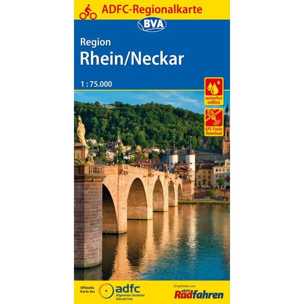 ADFC-Regionalkarte Region Rhein/Neckar