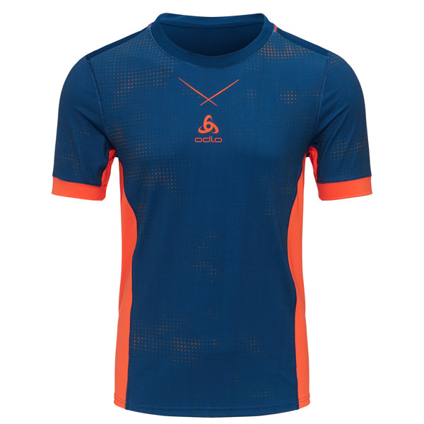 Odlo Crew Neck Ceramicool S/S Shirt pro Print Männer - T-Shirt