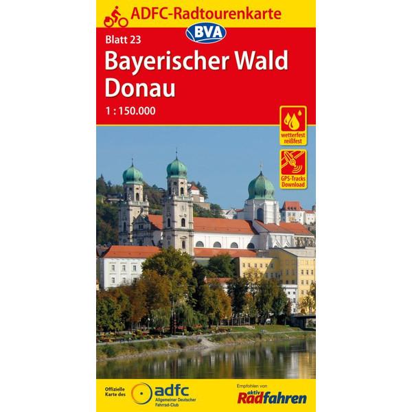 ADFC-Radtourenkarte 23 Bayerischer Wald