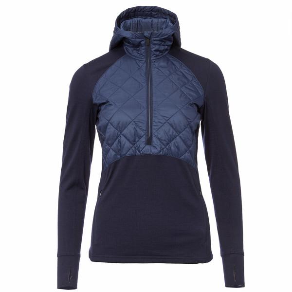 Icebreaker Ellipse LS Half Zip Hood Frauen - Funktionsshirt