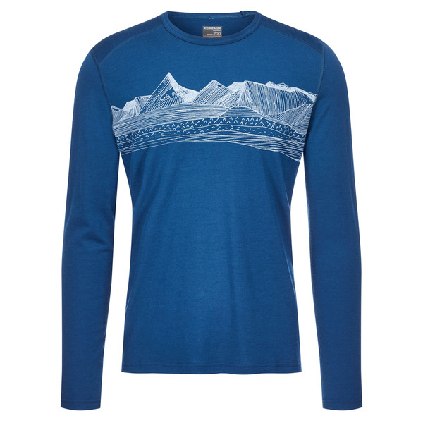 Icebreaker Oasis LS Crewe Pyrenees Männer - Funktionsshirt