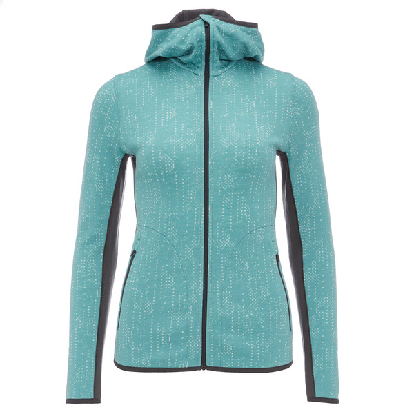 Icebreaker Away LS Zip Hood Showers Frauen - Wolljacke