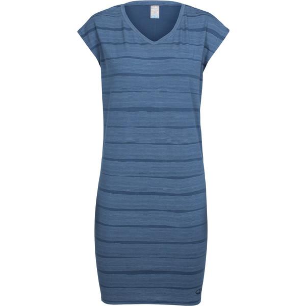 Icebreaker Yanni Tee Dress Combed Lines Frauen - Kleid