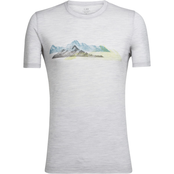 Icebreaker Tech Lite SS Crewe Misty Peaks Männer - Funktionsshirt