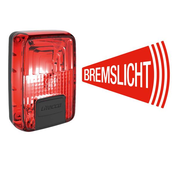 Litecco G-RAY USB-RÜCKLEUCHTE MIT BREMSLICHT - Fahrradbeleuchtung