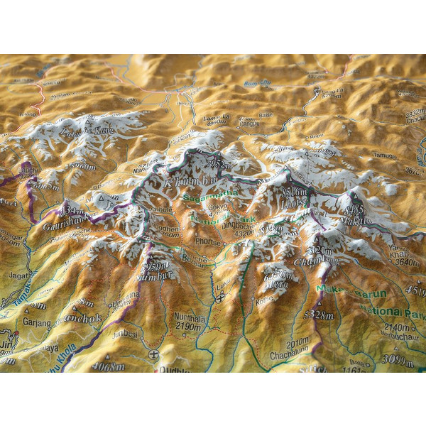 NEPAL GROSS 1:1.150.000 - Karte
