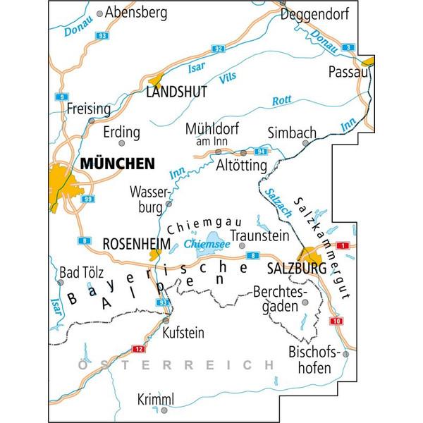 ADFC-Radtourenkarte 27 Oberbayern Ost