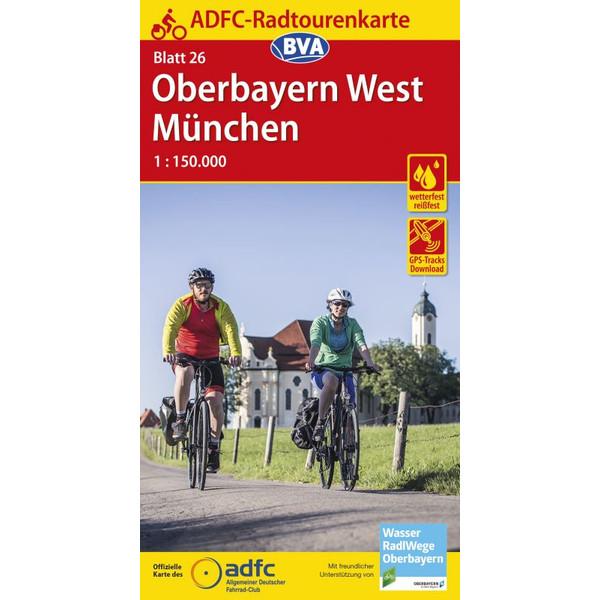ADFC-Radtourenkarte 26 Oberbayern West