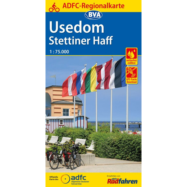 ADFC-Regionalkarte Usedom Stettiner Haff