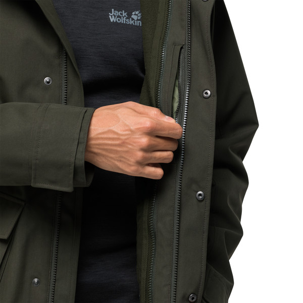 jack wolfskin m west harbour jacket pinewood