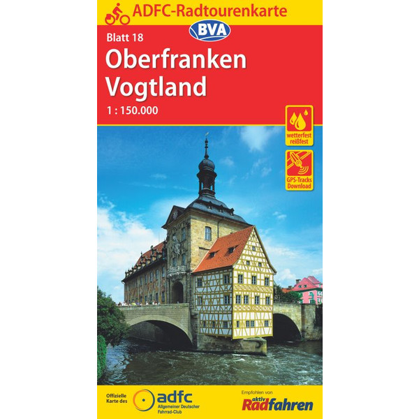 ADFC-Radtourenkarte 18 Oberfranken