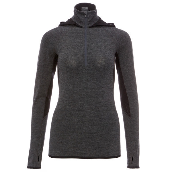 Icebreaker Fluid Zone LS Half Zip Hood Frauen - Funktionsshirt