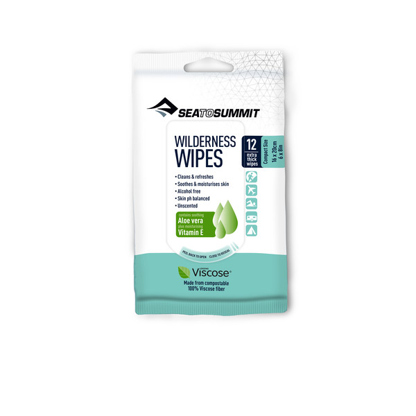 Sea to Summit WILDERNESS WIPES COMPACT - PACKET OF 12 WIPES Unisex