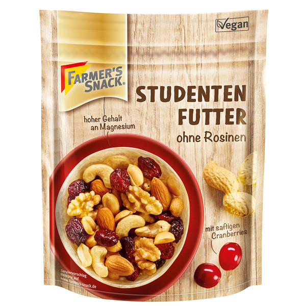 Farmer' s Snack STUDENTENFUTTER M. CRANBERRIES - Outdoor Essen