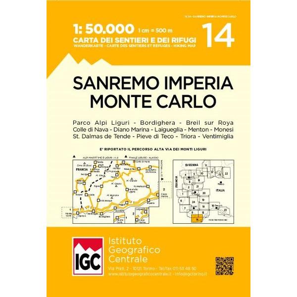 14 SAN REMO - IMPERIA - MONTE CARLO - Wanderkarte