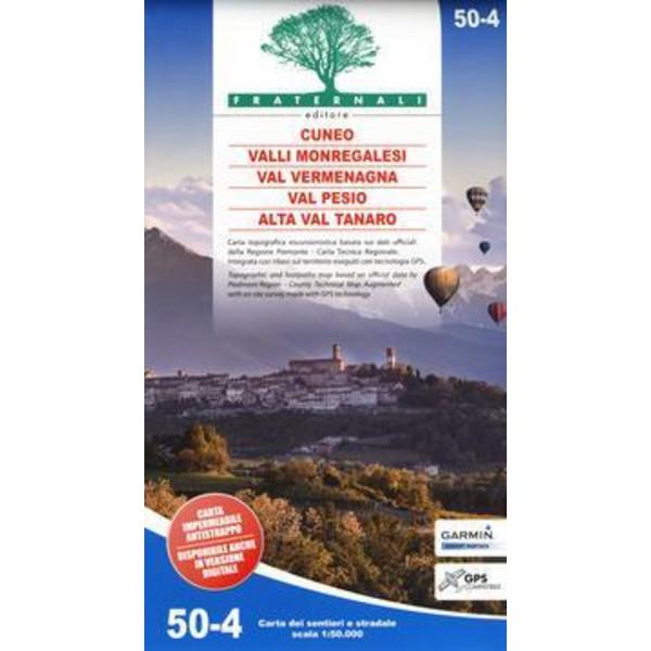 Val Vermenagna - Valle Pesio - Cuneo - Valli Monregalesi 1 : 50 000