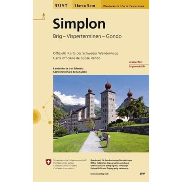 Swisstopo 1 : 33 333 Simplon - Wanderkarte