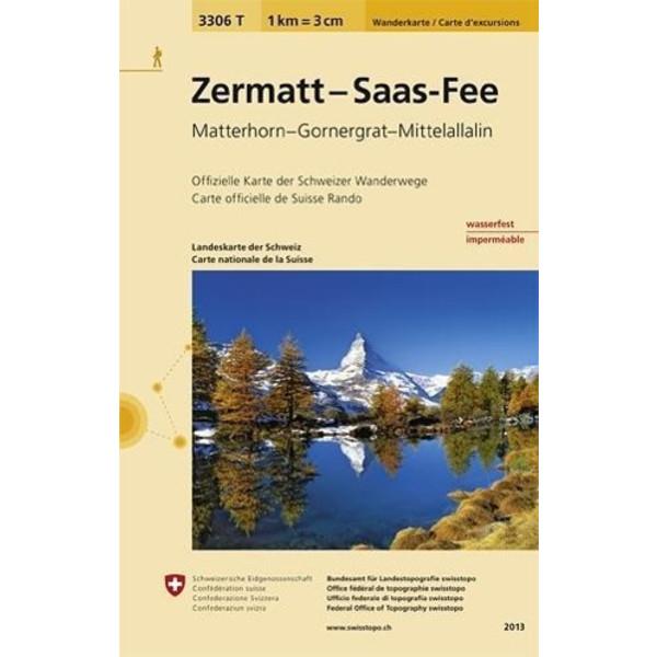 Swisstopo 1 : 33 333 Zermatt - Saas Fee - Wanderkarte