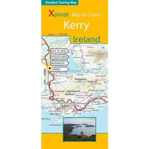 Xploreit Map of County Kerry, Ireland - Wanderkarte