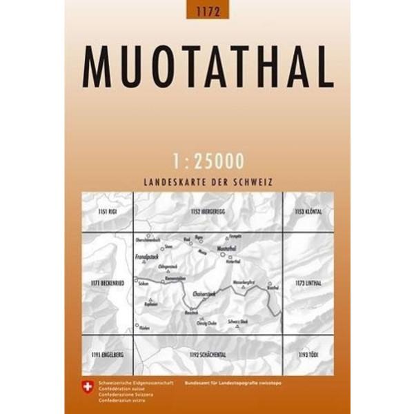 Swisstopo 1 : 25 000 Muotathal - Wanderkarte