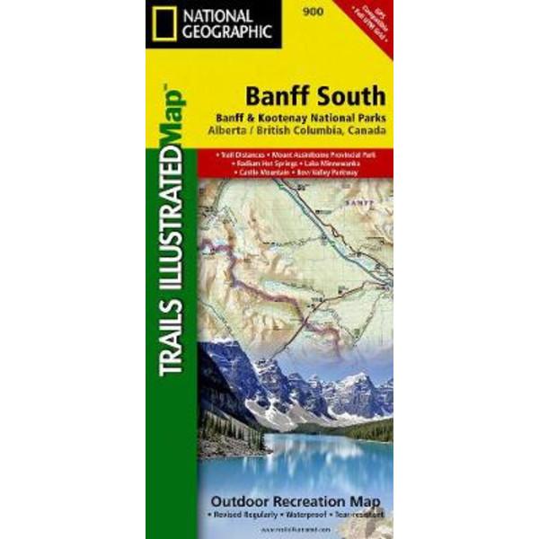 Banff South - Wanderkarte