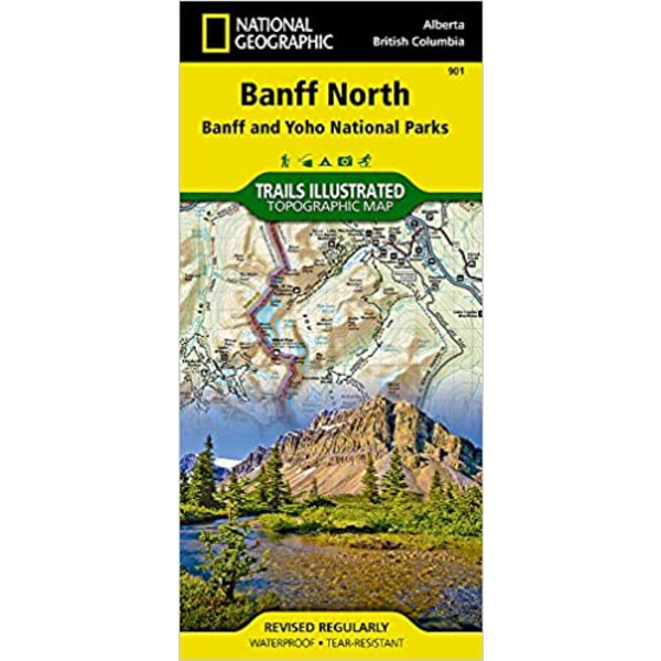 Banff North - Wanderkarte