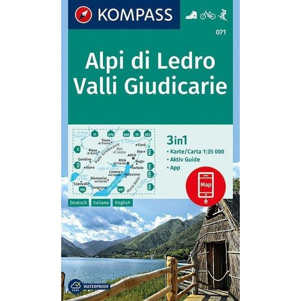 Alpi di Ledro, Valli Giudicarie 1 : 35 000 - Wanderkarte