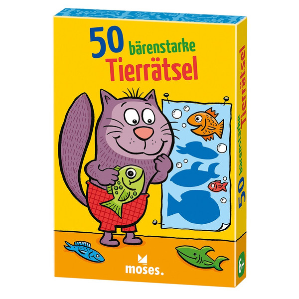 Moses Verlag 50 BÄRENSTARKE TIERRÄTSEL Kinder - Reisespiele