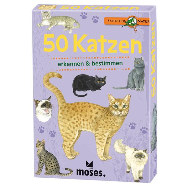 Moses Verlag EXPEDITION NATUR 50 KATZEN Kinder
