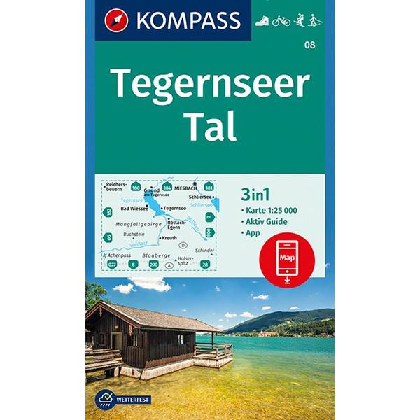 KOKA 08 TEGERNSEER TAL - Wanderkarte