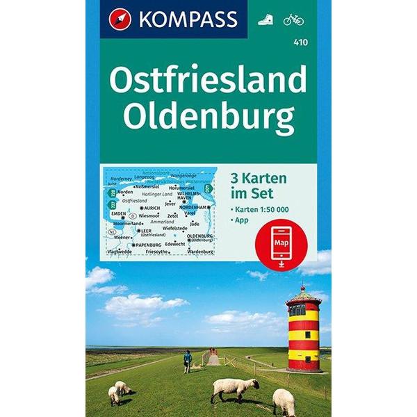 KOKA 410 OSTFRIESLAND, OLDENBURG - Wanderkarte