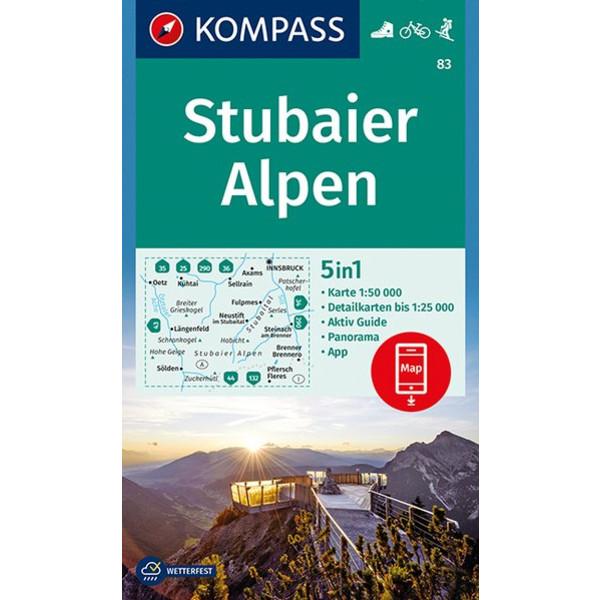 KOKA 83 STUBAIER ALPEN - Wanderkarte
