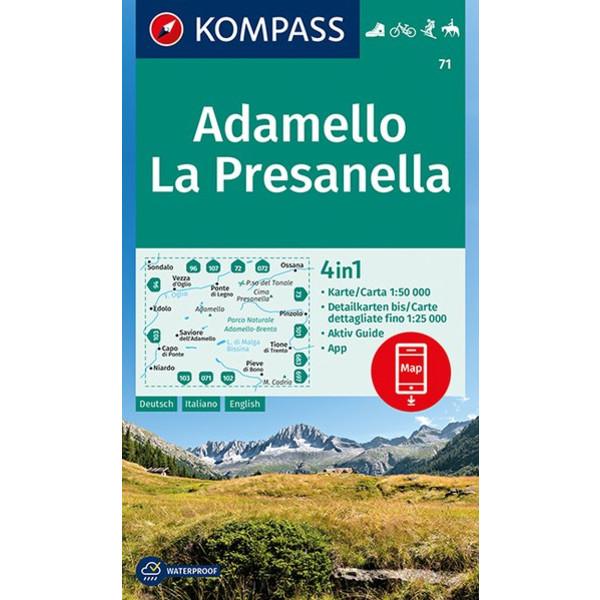 KOKA 71 ADAMELLO, LA PRESANELLA - Wanderkarte