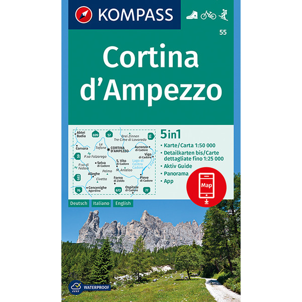 KOKA 55 CORTINA D' AMPEZZO - Wanderkarte